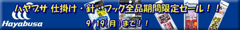 ハヤブサ 仕掛け・針・フック全品期間限定セール!!4/18(日)まで!!